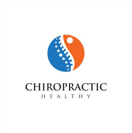 Chiropractic Logo Design Vector illustration . Pain Logo . Spine care logo . bone ,orthopedic , Chiropractic Wellness Center .