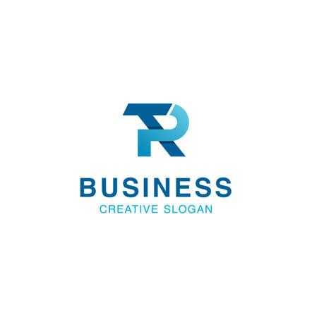 Letter R T TR Logo Design Inspiration Vector Illustration, Initial T R logo Design
