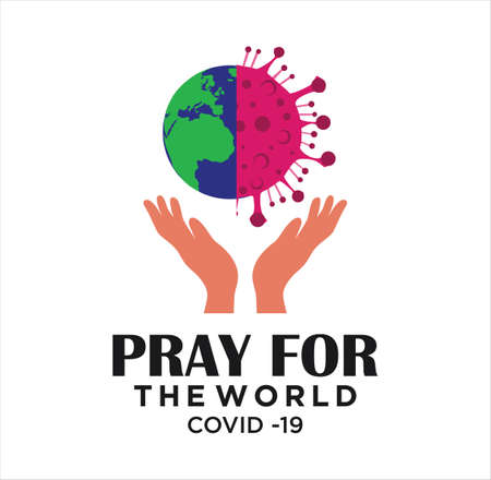 pray for the World corona virus . Corona Virus 2020.covid-19. Corona Virus in Wuhan vector illustration.Virus Covid 19-NCP. 일러스트