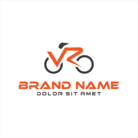 bicycle Design Vector Stock .Abstract Letter V R Cycle Bike sport vector design icon cycle