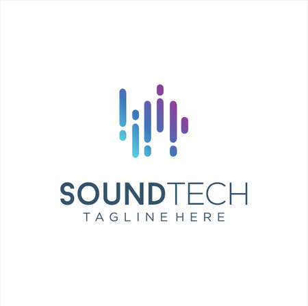 Sound Wave Logo Design Vector Stock. Pulse music player. Audio colorful wave logo Design Template. equalizer Logo element .Audio Technology Logo Icon