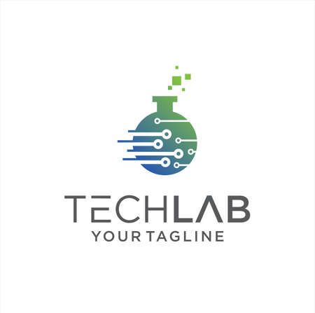 Tech Lab Logo Design Vector Stock. Science laboratory logo Template. Digital chemistry Labs Logo Icon