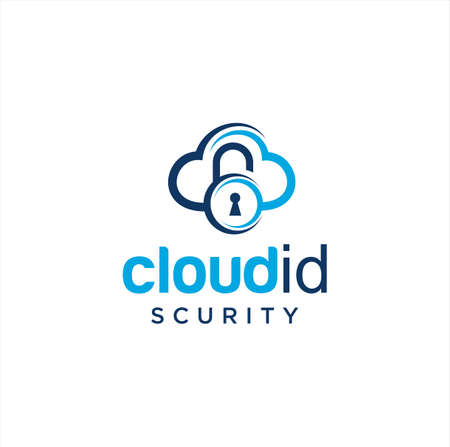Cloud Security Logo Icon Design. Cloud Key Logo Template. Cloud Lock Logo Icon Design Template. Cloud Secure Logo Access and Data.