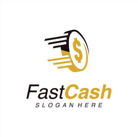 Fast coin logo combination speed money. Fast Cash Logo Icon Vector Stock Vector. Fast Crypto Logo Design Template Logos