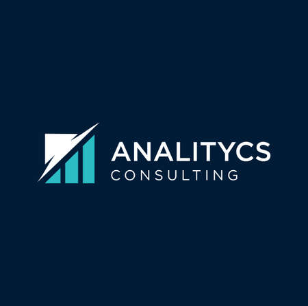 Business Finance Logo Design With Chart Analysis Icon. Data Analytics Logo Business Design Template Vector Stock.