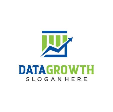 Rising bar graph Logo Icon. Business chart logo designs Template. Financial Data Growth Logo Design Vector Stock 向量圖像