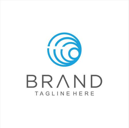 Abstract circle line logo icon. Simple Round Logo Design Template vector Stock.