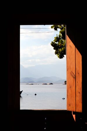 beach window: beach and window Stock Photo