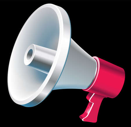 An illustration with megaphone