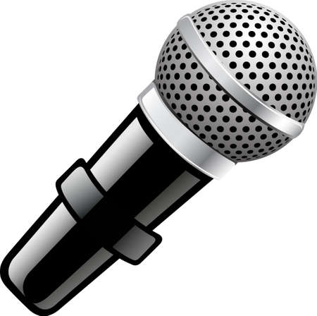 An illustration with microphone Illustration