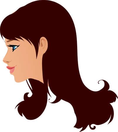 Una ilustración con una mujer hermosa