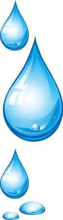 gota agua: Una ilustraci�n con gotas azules