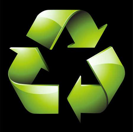 Eine Abbildung mit gr�nem recycle
