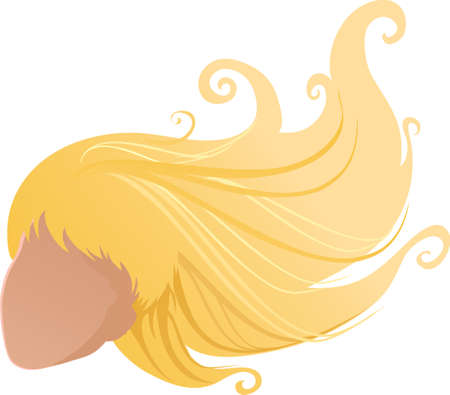 An illustration with hair blonde