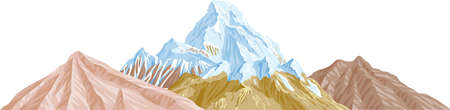 An illustration with mountains