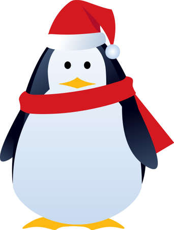 Eine Abbildung mit lustigen Pinguin