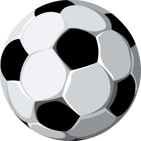 An illustration with a soccer ball