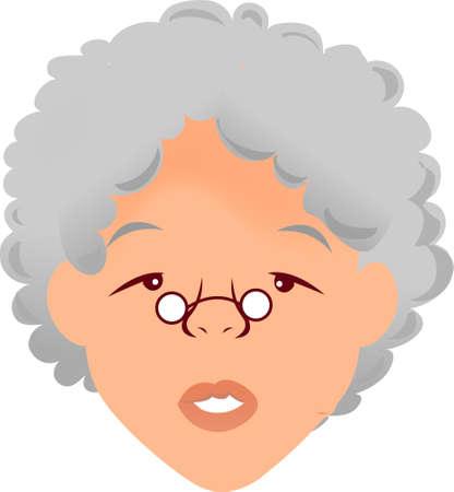 Eine Illustration mit Frau Gesicht alt