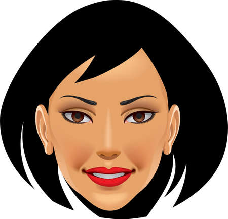 An illustration with woman face Illustration