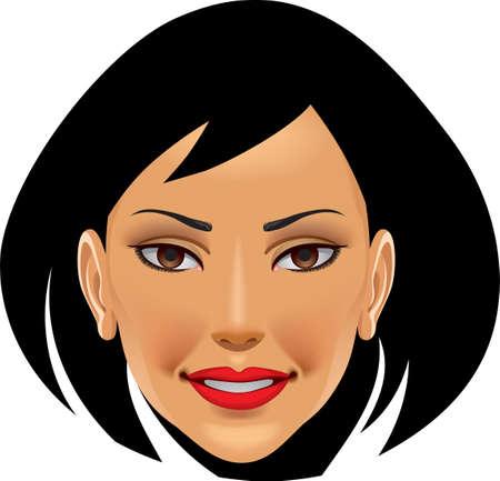 Eine Abbildung mit Frau Gesicht