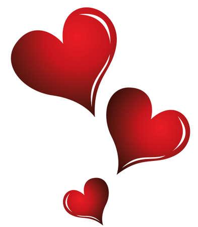 Eine Abbildung mit roten Herzen