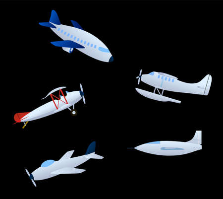An illustration with airplanes Illustration