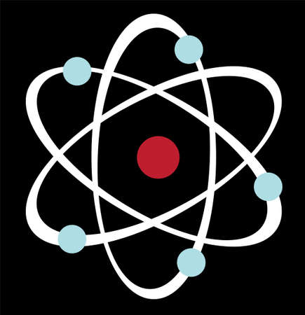 An illustration with atom Illustration