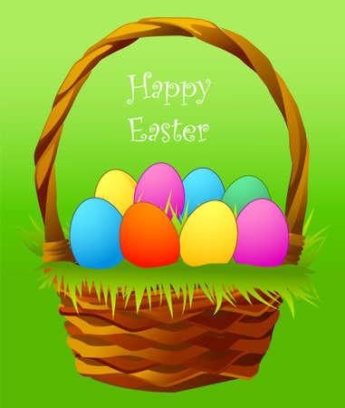 Eine Abbildung mit Korb Eier Illustration