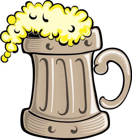 Eine Abbildung mit einem Bier Illustration