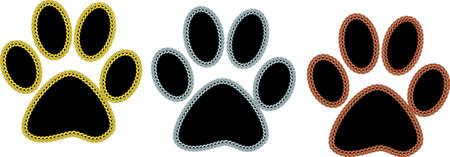 An illustration with paw prints