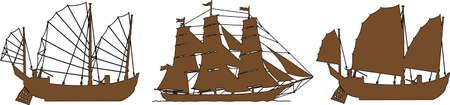 Eine Abbildung mit Schiffen Illustration