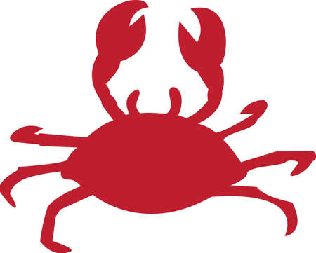 An illustration with crab