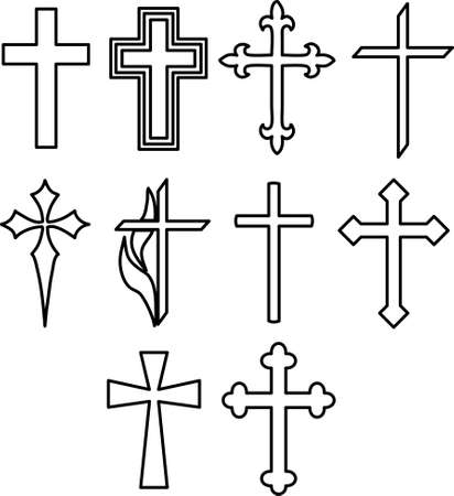 An illustration with crosses