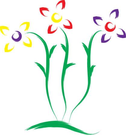 Eine Abbildung mit Blumen Illustration