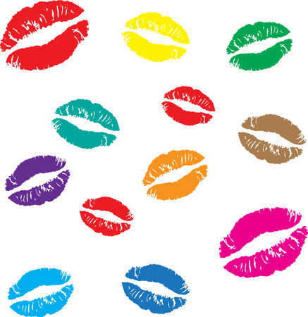 An illustration with lips Stock Vector - 12495624