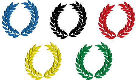 olympic game: An illustration with olympic laurel wreath Editorial