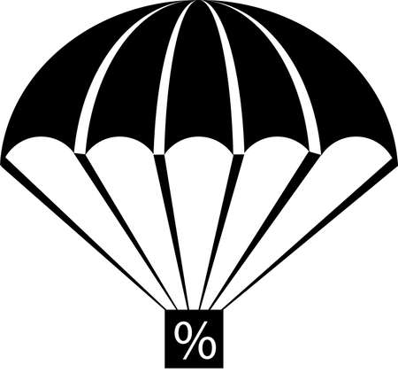 parachute: An illustration with parachute percent
