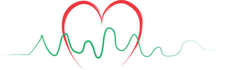 heart monitor: An illustration with heartbeat Illustration