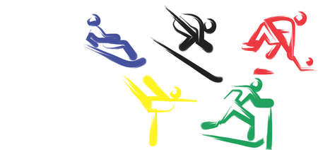 An illustration with sports competition games