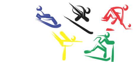 Eine Abbildung mit olympischen Spielen