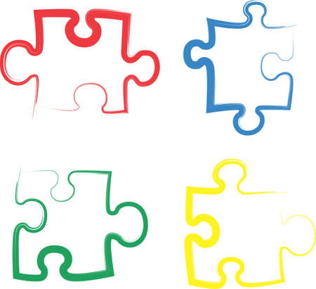 An illustration with a color puzzle