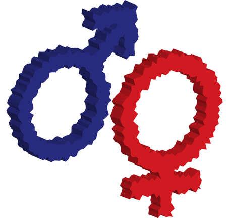 Eine Darstellung mit Symbol m�nnlicher und weiblicher
