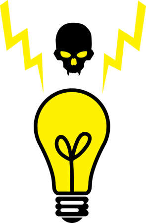 An illustration with bulb skull Stock Vector - 12660553