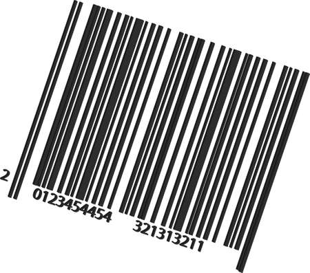 An illustration with bar code