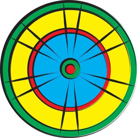 Illustration mit einer Partie Dart Illustration