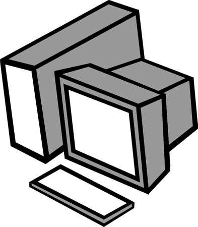 Eine Illustration mit Computer