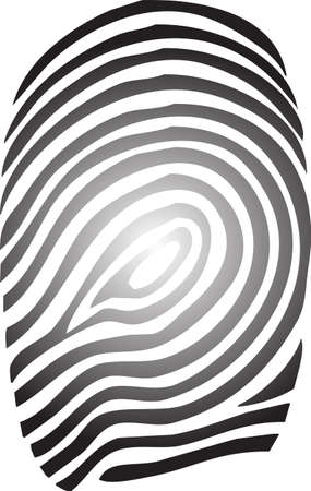 An illustration with finger print