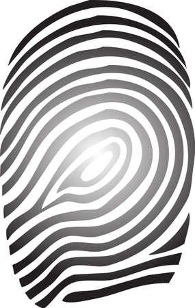 Eine Abbildung mit Fingerabdruck Illustration