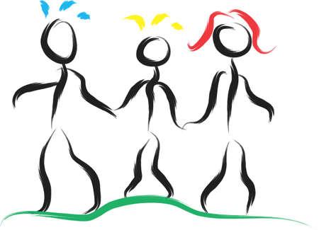 Eine Darstellung mit der Familie