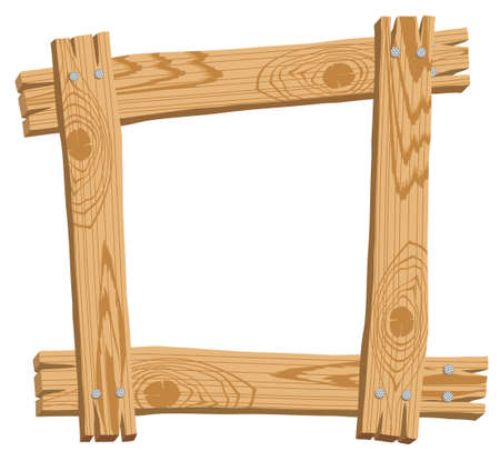 wood frame: Illustration with frame wood Illustration